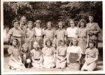 Brownies, 4th Grade:  from l to r:  Carol Israel, Bev Smith, Harriet Higgens, ???, Jennifer Tatlock, Susan Weigang, and