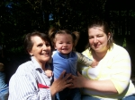 becky fusco w/great granddaughter zoee raye and her mom, granddaughter in-law, sonja,summer 2008