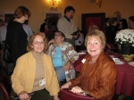 Friday night at Elks:  Donna Schrock and Gloria Stavenick in foreground, Sue Skiles is talking to Bonnie Burke and Sue'